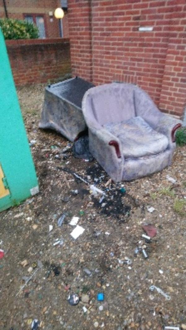 Fly tipping not cleared two man lift on my own-81 Erleigh Road, Reading, RG1 5NW