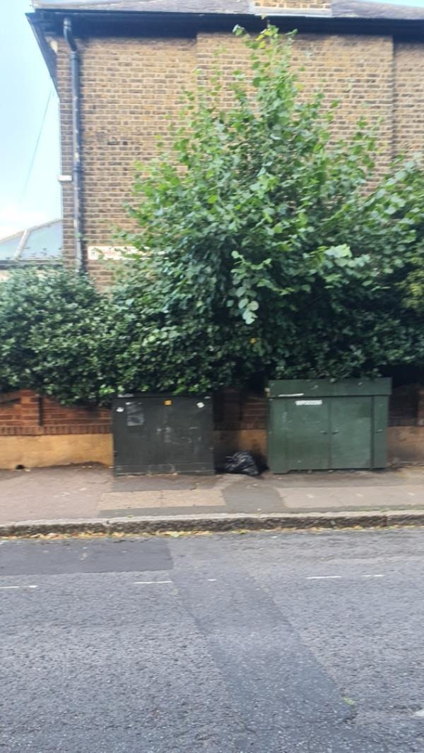 black rubbish bag-52d Richmond Road, London, E7 0QB