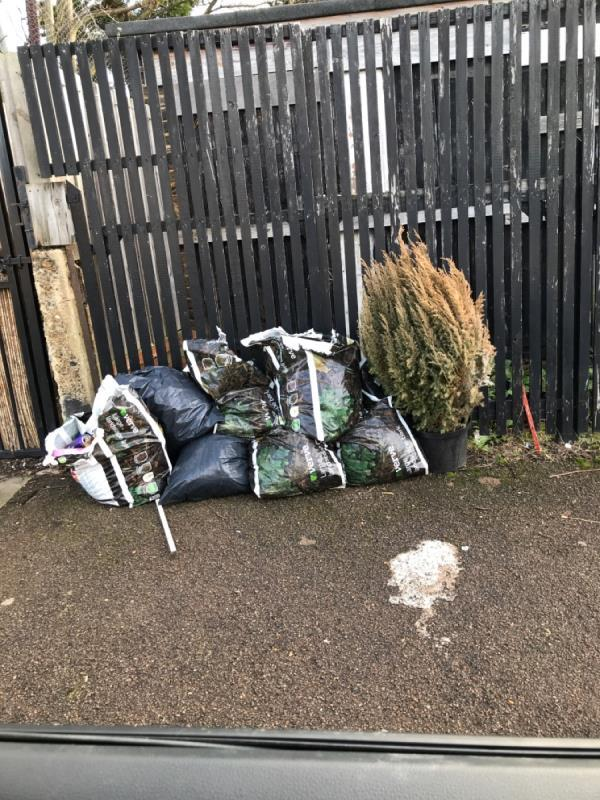 Garden waste bags Fordyce rd off Mount Pleasant rd -99a Mount Pleasant Road, London, SE13 6RG