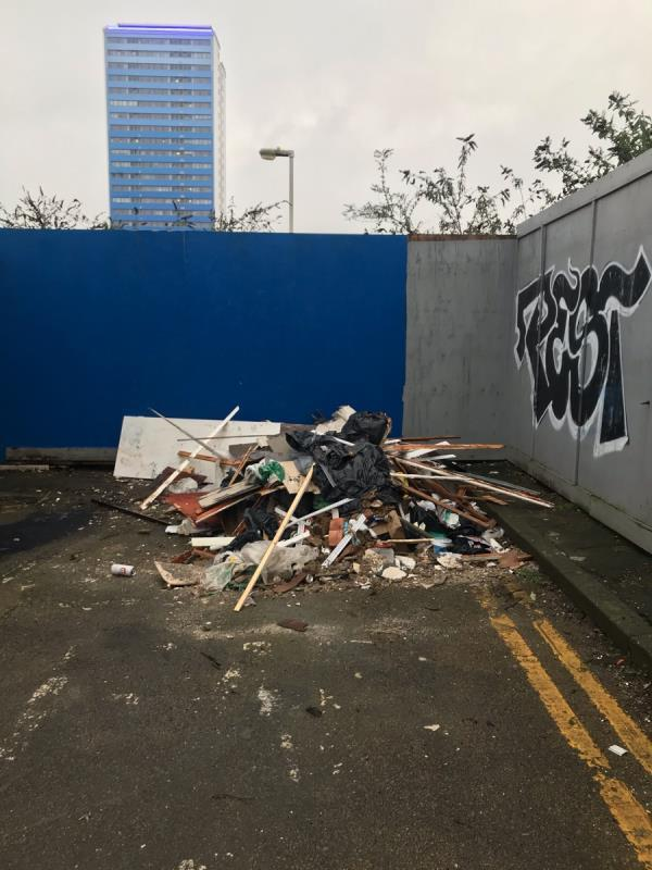 Material scraps from buildings -1 Formunt Close, Canning Town, E16 1QR
