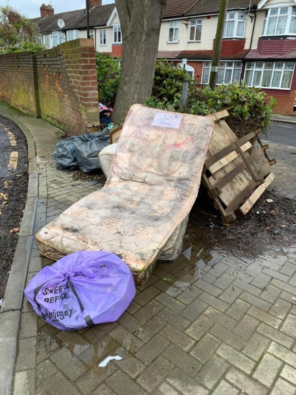 Dumped rubbish-17 Ashby Road, London, N15 4LP