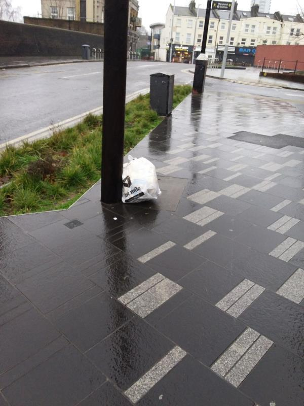 Litter and Bin Bags left at this location-198b The Grove, London, E15 1NS