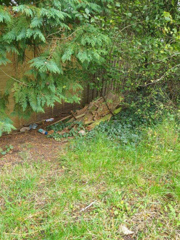 There is litter that needs clearing here and also the residents who back on to this path have dumped all there old wood from the fence they replaced.  Please can council come and clear this.-18 Fircroft Close, Reading, RG31 6LJ