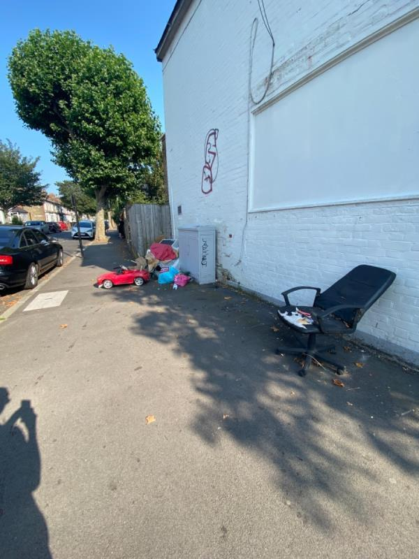 Usual flytipping-161 Boundary Road, Plaistow, E13 9QF