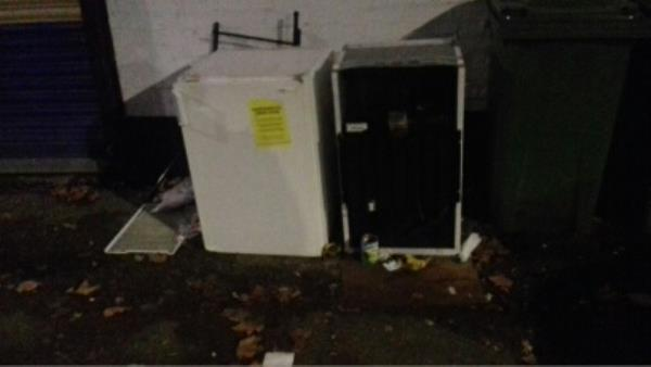 2 small fridges dumped near 2A King Street junction with Barking Road -1 King Street, London, E13 8DB