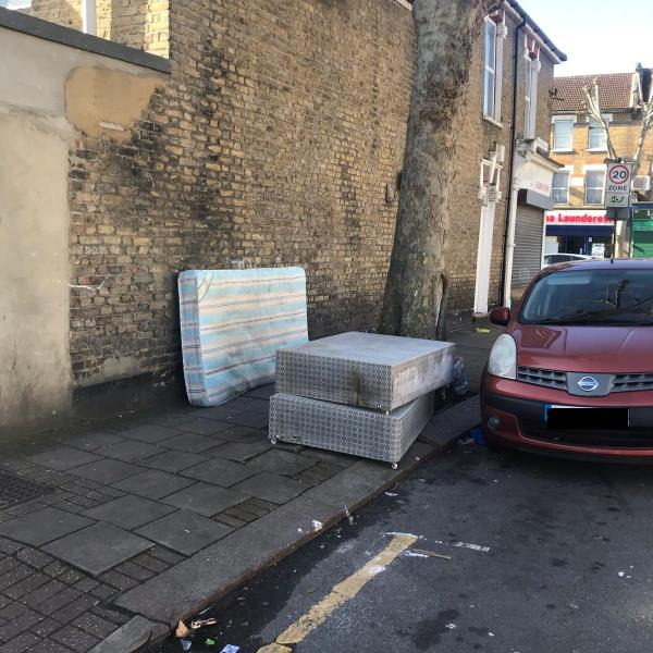 Mattresses. Same spot as always. This time dumped early evening. Please can you install cctv here???????? -2 Bristol Road, London, E7 8HF