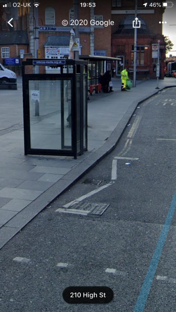 Blocked gully drain is located OPPOSITE the Six bells pub on High Street Acton W3-193-195 High Street, London, W3 9NW