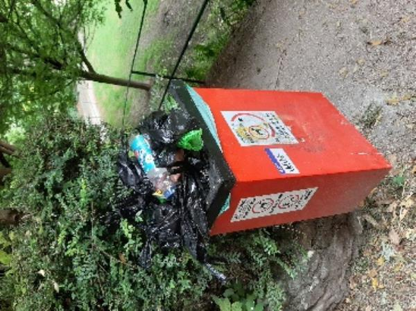 SEESL EBC Zone2 NF JN 4/6/20 @ 11.30am please could you arrange for the two dog bins in Motcombe Gardens to be emptied as they are now overflowing. many thanks  jo-27 Parsonage Road, Eastbourne, BN21 1JF