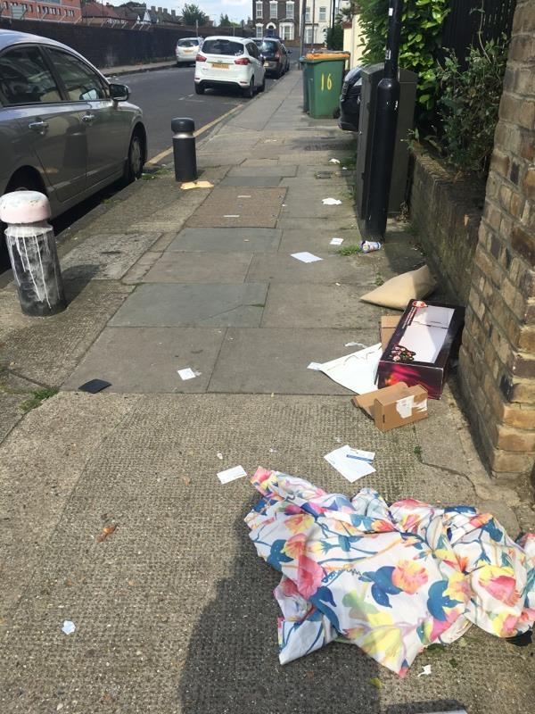 Litter all over the street -16a Manbey Park Rd, London E15 1EY, UK