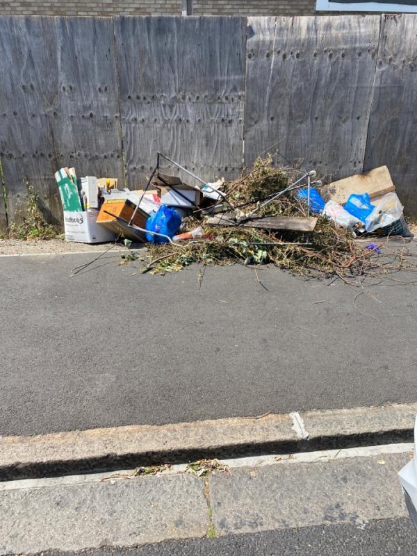 Green waste boxes and bags -187 Lathom Road, London, E6 2DZ