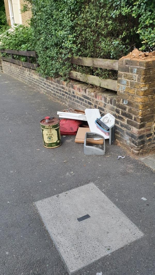 oil canister, boxes-115 Earlham Grove, London, E7 9AP