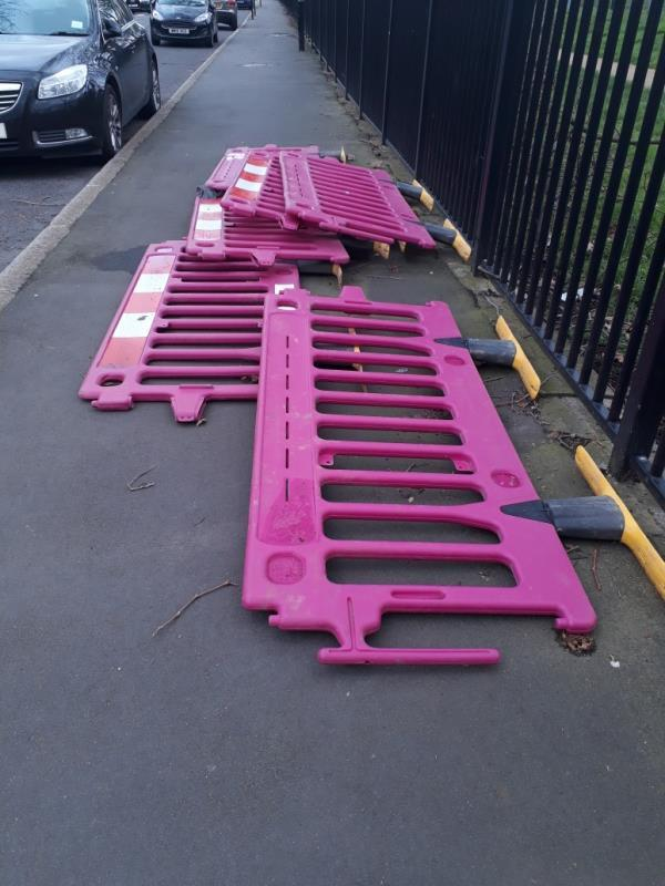 trip hazard .  lying on the pavement,  no works being carried out insurrounding area. -12 Radland Road, London, E16 1LN