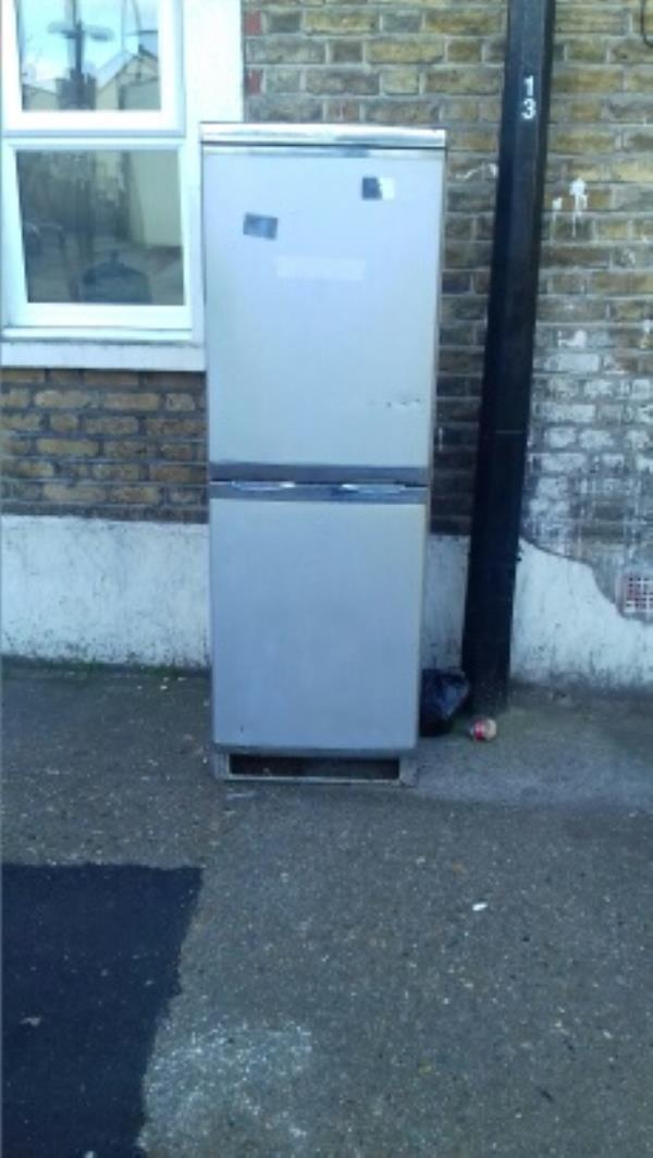 A fridge freezer dumped near 60A Green Street junction with Glenparke Road -62a Green Street, London, E7 8BZ