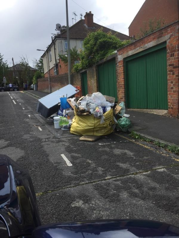 Fly tipping -66a Goldsmid Road, Reading, RG1 7YB