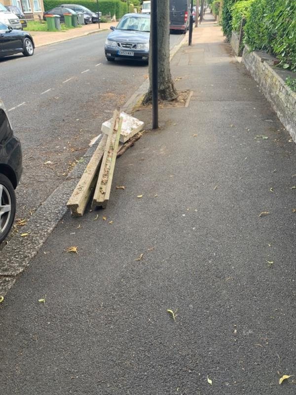 Concrete pillars and other rubbish-22a Windsor Road, London, E7 0QX