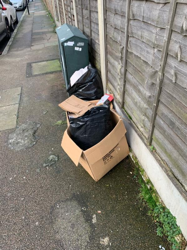 Fly tipping-17 Sprowston Road, London, E7 9AD