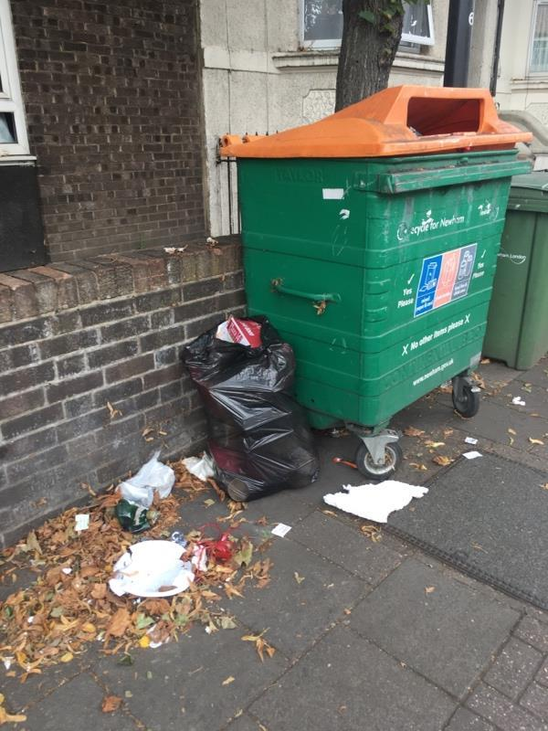 Yet again more fly tipping. Please move this bin!-30a Stopford Road, London, E13 0LZ