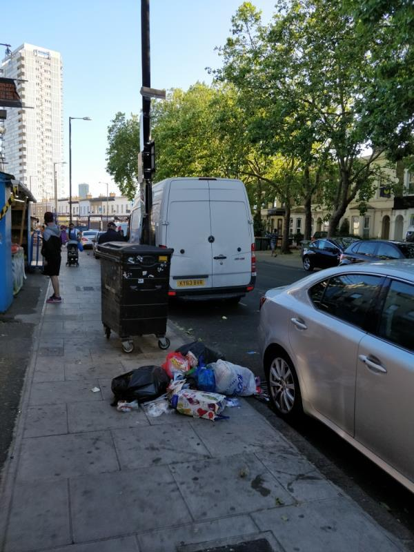 Flytipping beside 104 Leytonstone Road E15-104b Leytonstone Road, London, E15 1TQ