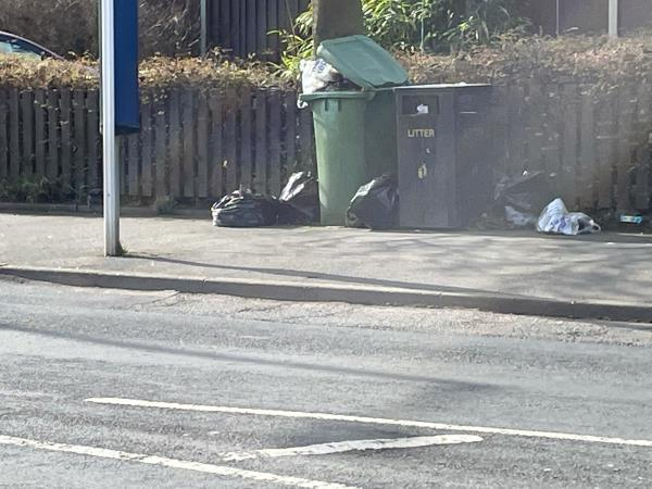 Large amount of household waste dumped on street opposite 72 first avenue.  -87 First Avenue, Wolverhampton, WV10 9SE