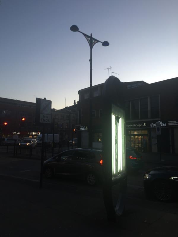 Street lamp out since end of 2018, my god I must've reported this at least 8 times, along with at least two other residents. Why won't Newham address this reoccurring problem? ( location central crossing island, believe its number is 33. ) but you already know all this-Forest Gate Library 6-8 Woodgrange Road, London, E7 0QH