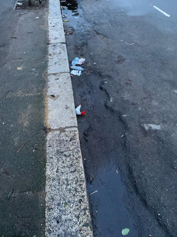 Seems this road has also been missed again for being swept -22b Cruikshank Road, London, E15 1SN