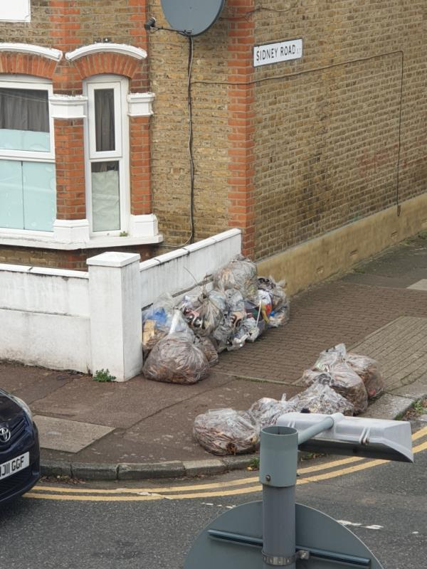 this is always being used for people's rubbish. It's right under a sign asking them not to do it and saying there's CCTV - no one can see CCTV so they keep doing it.-37 Forest Road, London, E7 0DN