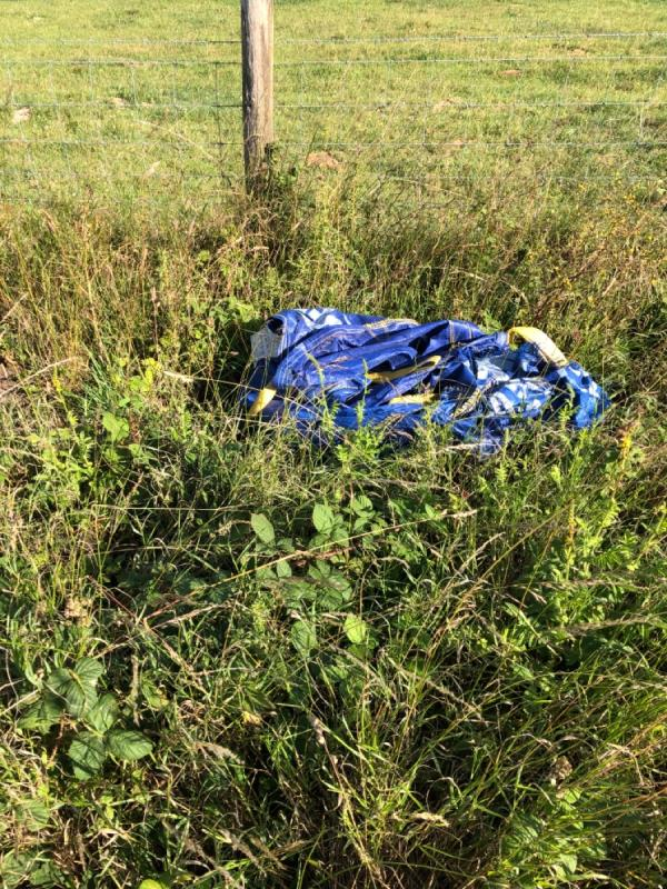 Fly tipping on bridleway-Mill Hill, Steyning, BN44 3TF