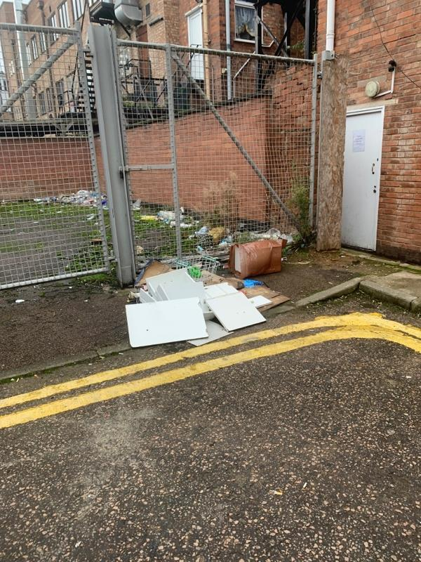 Rubbish in the street again-171a Belgrave Gate, Leicester, LE1 3HS