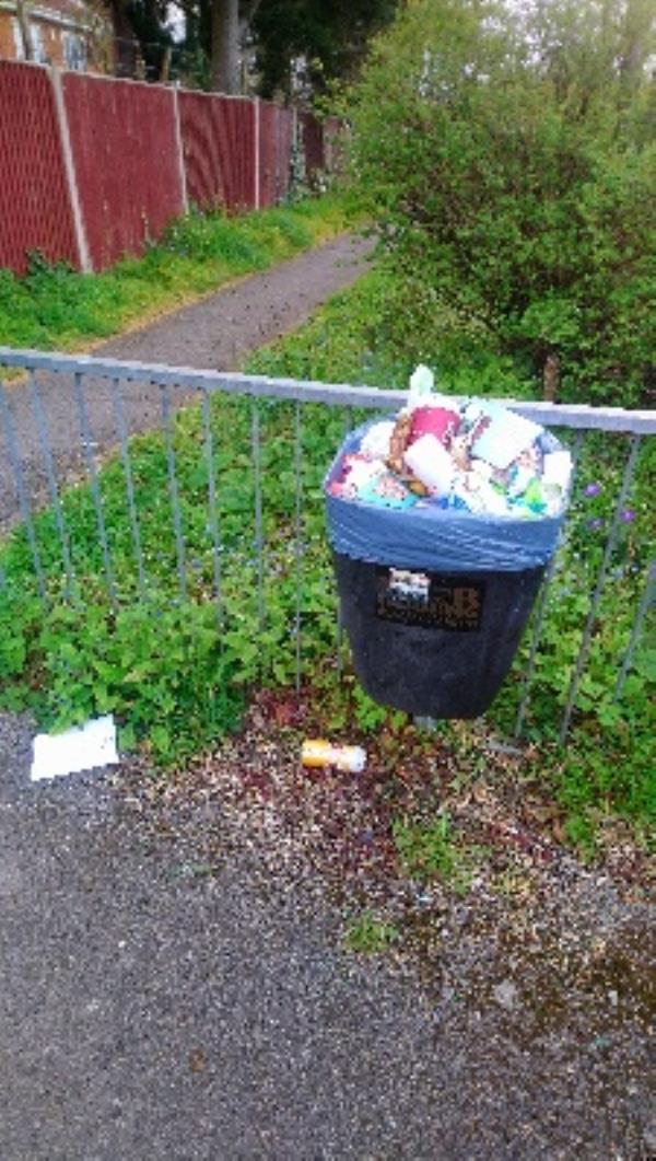 Bin overflowing Parkhouse Lane -56 Bexley Court, Reading, RG30 2DY