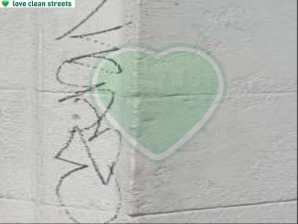 Remove graffiti from piller-Station Buildings, 1-6 Catford Road, London, SE6 4QZ