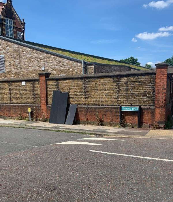 Reported at the beginning of the week. Report that it had been dealt with but it is still there on Friday 11th June ? Please deal with as promised - it's a hazard surely more so by the school …. -110 Nelgarde Road, London, SE6 4TP