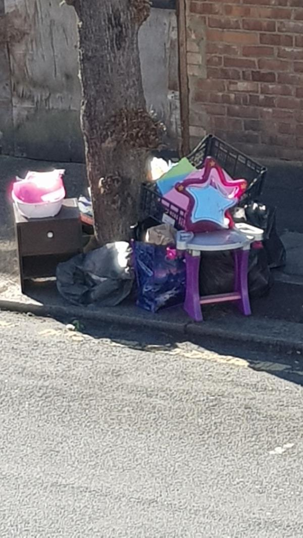 this rubbish came from number 33 washington Avenue. they had this is their front garden and on the pavement -35 Washington Avenue, Manor Park, E12 5JA