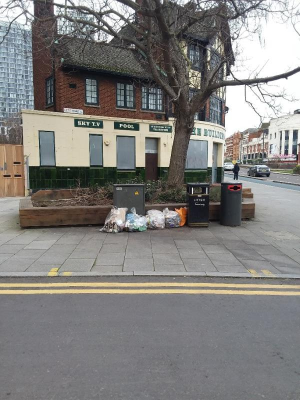 Bin Bags and Litter left at this location-Saturn House 1a Wise Road, London, E15 2TF