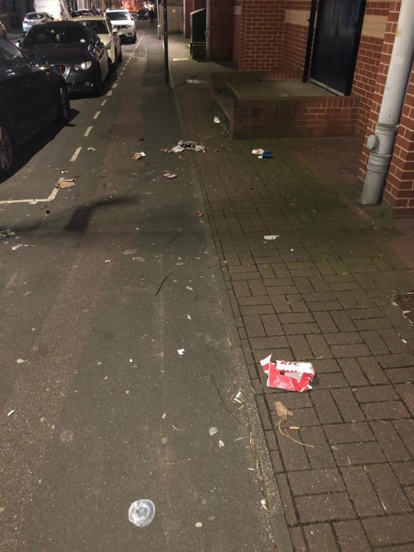 Litter across pavements -4 Cam Road, London, E15 2SN