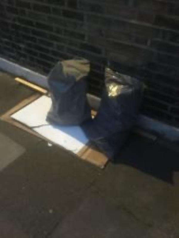Please clear flytipped Building waste-140 Albyn Road, London, SE8 4JQ