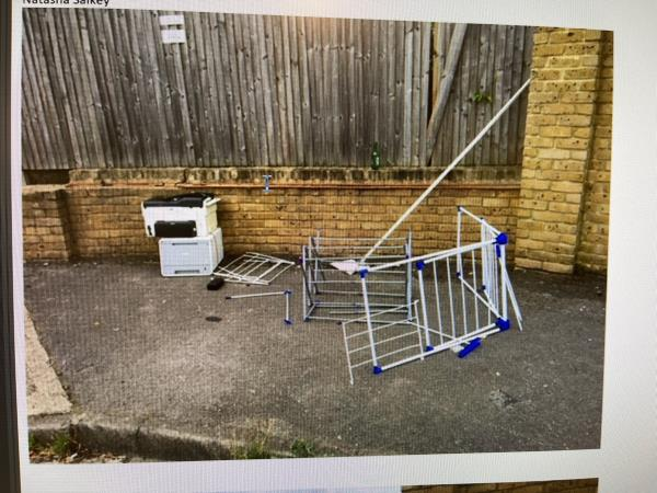 Washing machines, clothes airer, small fridge  and printers -71 Goodhall Street, Kensal Green, NW10 6TS