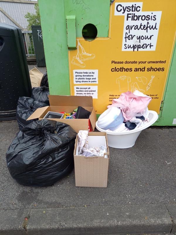 Household waste flytipped-3 Baker Street, Reading, RG1 7XT