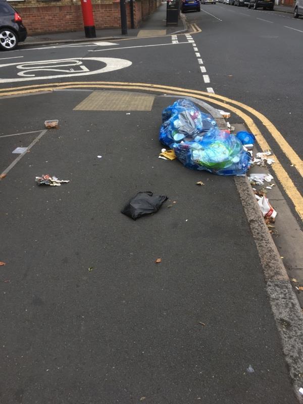 Domestic rubbish dumped  -127 Boundary Road, London, E13 9PT