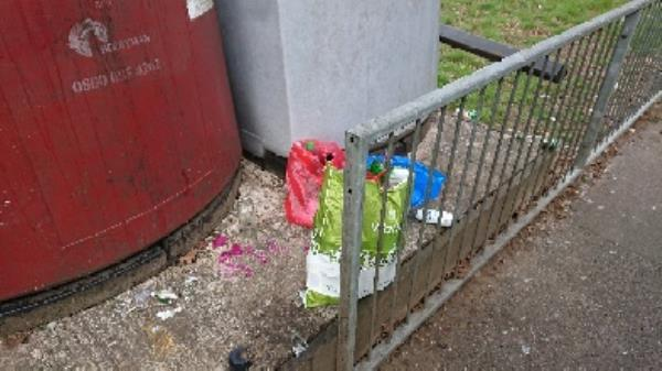House old waste removed fly tipping bottle banks full needs to be emptied -1a Norfolk Road, Reading, RG30 2TD