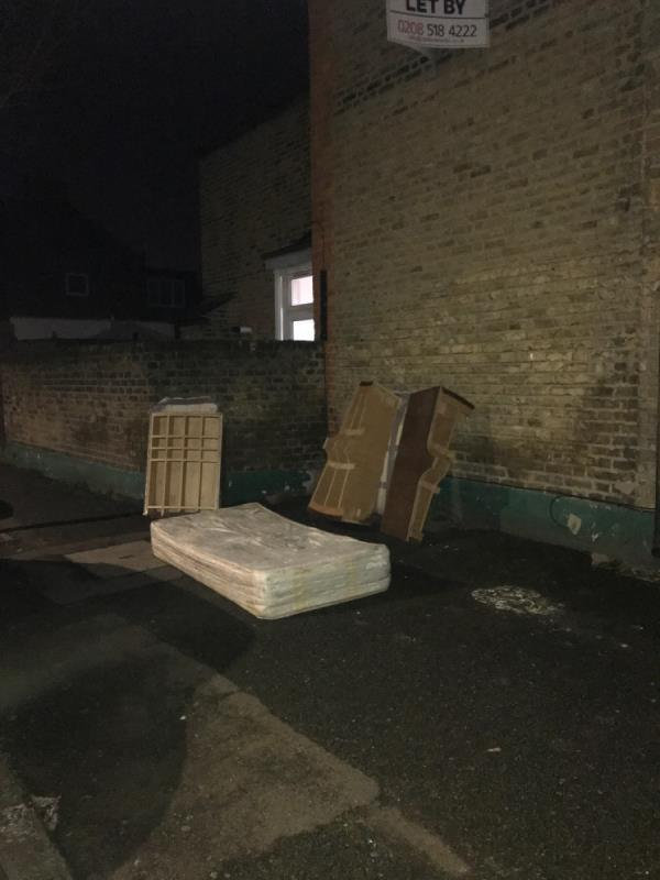 As usual flytipping-151 Boundary Road, London, E13 9QF