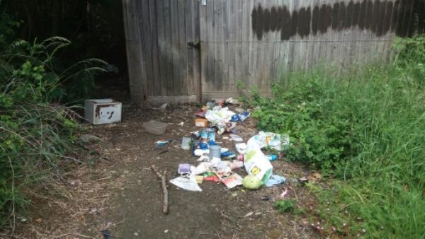 appears to be the contents of dustbin and a small wall safe.-2 Chevin Avenue, Leicester, LE3 6PX