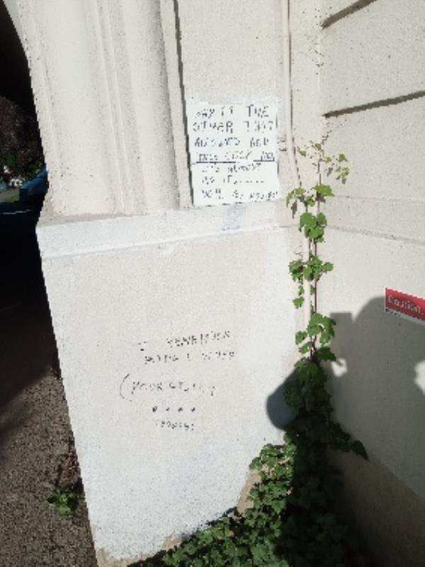 Offensive graffiti on the bridge removed -Clearwater Court, Vastern Rd, Reading RG1 8DB, UK