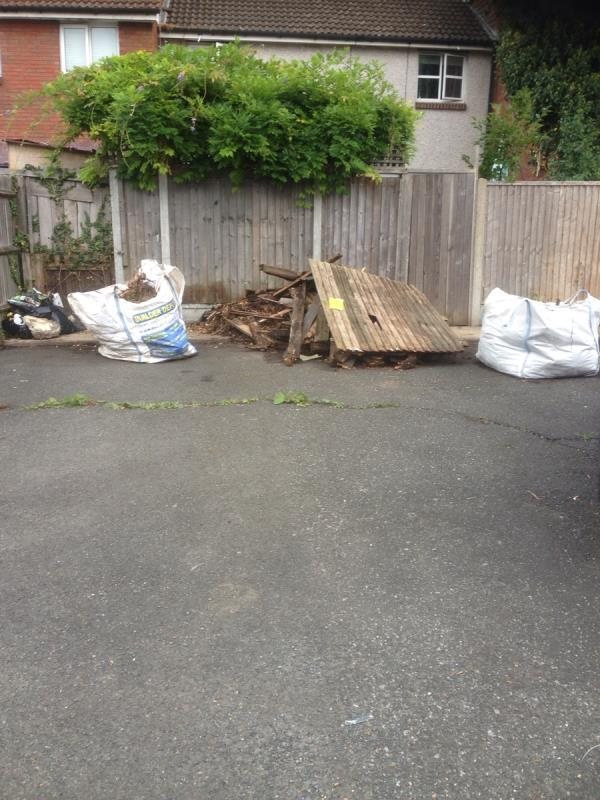 Heavy wood and green waste, -1 Latham Cl, London E6 5SF, UK