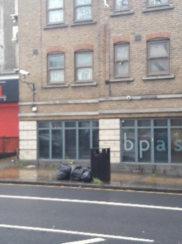 Fly-tipping, 32 Romford Road, Stratford Original Ambassador MK-21-25 Romford Road, London, E15 4LJ