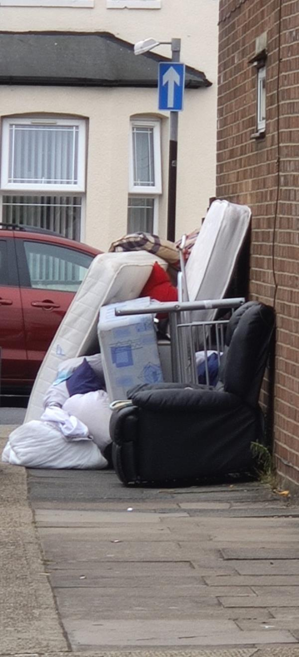 Someone has fly tipped a load of rubbish and furniture-23 Westbury Road, Upton Park, E7 8BU