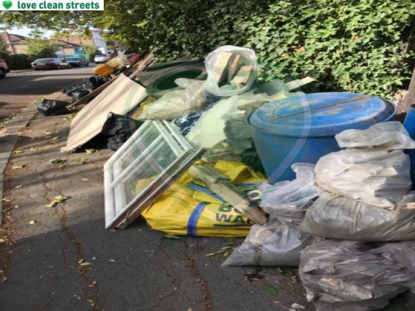 Large flytip rubble wood etc etc Sydenham park by the rail line-199 Longfield Crescent, London, SE26 4DR