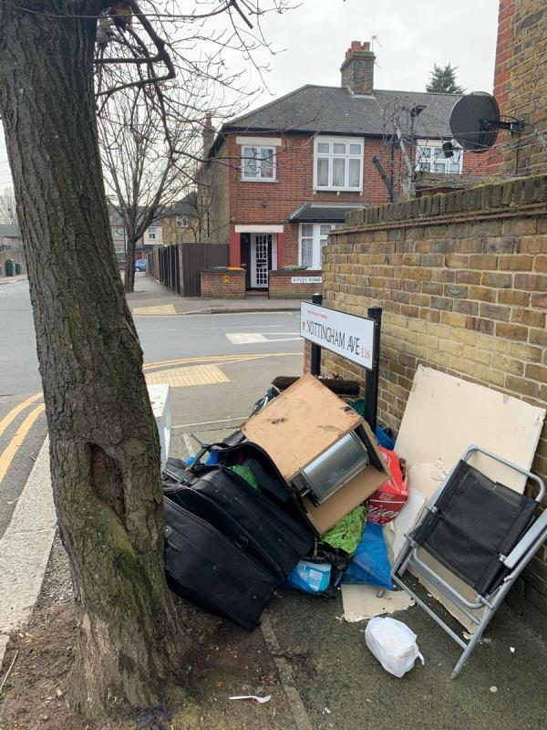 Pavement is Completely blocked with rubbish-75 Ripley Rd, London E16 3EA, UK