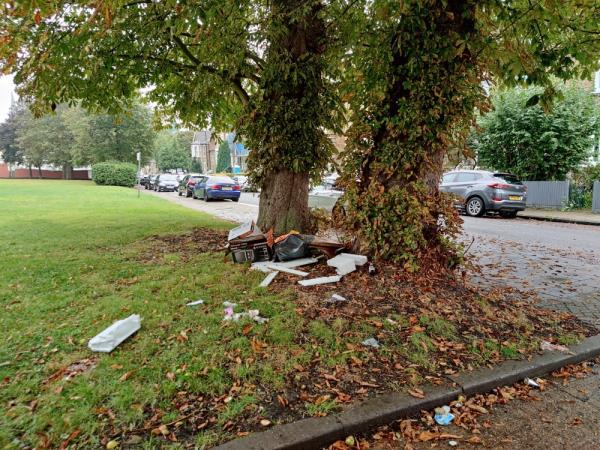 Fly tipping on Wynell Road.  Please clear.-14c Wynell Road, London, SE23 2XE