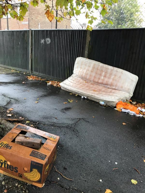 Mattress and box full of wood -201 Whitefoot Lane, Bromley, BR1 5SE