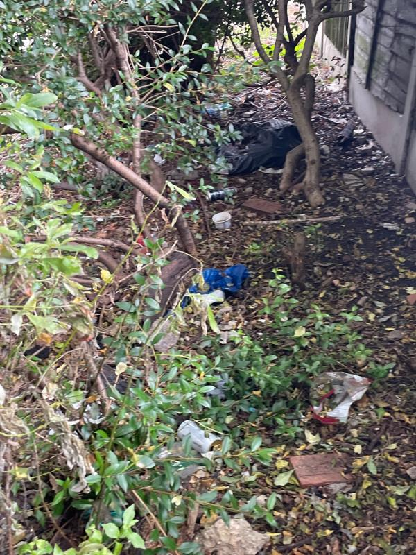 Plenty of rubbish on this little alley -2 Chetwood Walk, London E6 5SD, UK